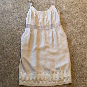 Lined linen summer dress